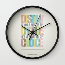 Lab No. 4 - Destiny Typographic Inspirational Quote print art Poster Wall Clock