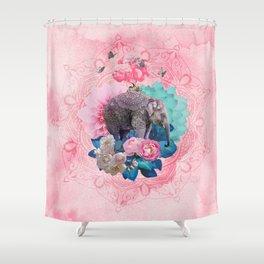 FLORAL ELEPHANT Shower Curtain