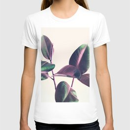 Pink and Green Iridescent Leaves T-shirt