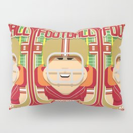 American Football Red and Gold - Hail-Mary Blitzsacker - Jacqui version Pillow Sham