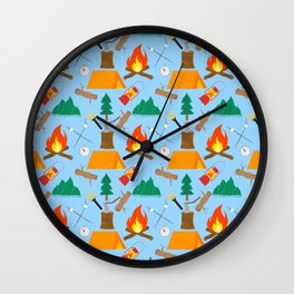 Let's Explore The Great Outdoors - Light Blue Wall Clock