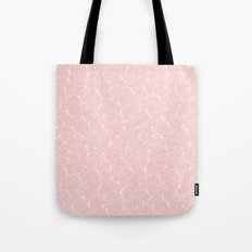 Butterflies White on Blush Tote Bag