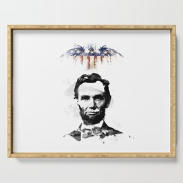 Abraham Lincoln Serving Tray