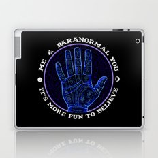 Me & Paranormal You - James Roper Design - Palmistry (white lettering) Laptop & iPad Skin