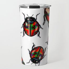 Hyper Spotted Lady Birds Travel Mug