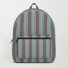 Retro Stripes Mauve and Light Blue Backpack
