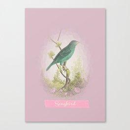 Songbird {dusky lilac} Canvas Print