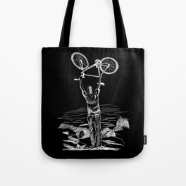 Bike Contemplation Tote Bag