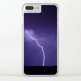 Lightning Strikes - II Clear iPhone Case