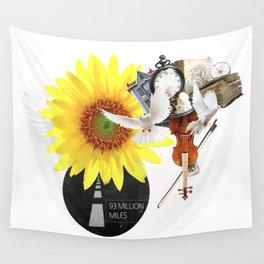 93 MILLION MILES (Totem of the Dove) Wall Tapestry