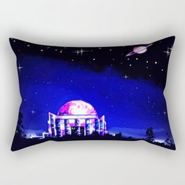 Observer to space. Rectangular Pillow