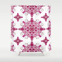 Rosy mandala glam Shower Curtain