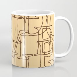 Antique Looking Latin Alphabet Seamless Pattern Coffee Mug