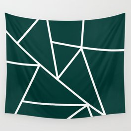 Emerald Mountain Lines Wall Tapestry