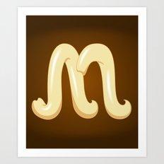 Alphabet M Art Print
