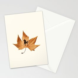 Horse on a dried leaf Stationery Cards