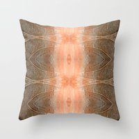 gray pattern Throw Pillows featuring pink-gray pattern by giol's