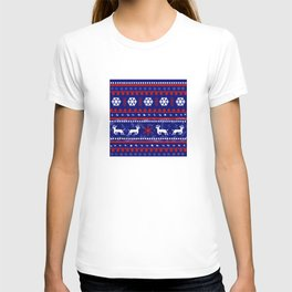 Christmas Reindeer Pattern T-shirt