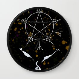 A Tarot of Ink 08 of Pentacles Wall Clock