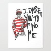 waldo Canvas Prints featuring Waldo by Carrie Anne Hudson