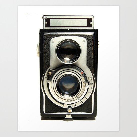 Vintage Camera Art Print by moviereplicars | Society6