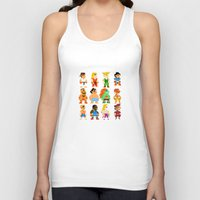 street fighter Tank Tops featuring 8 Bit Street Fighter by thedoormouse