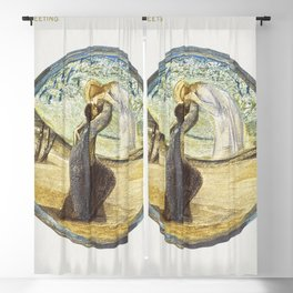 Golden Greeting from The Flower Book (1905) by Sir Edward Burne-Jones Blackout Curtain