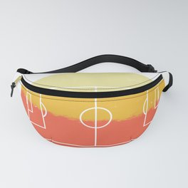 Retro Soccer Football Field Pitch Vintage Style print Fanny Pack