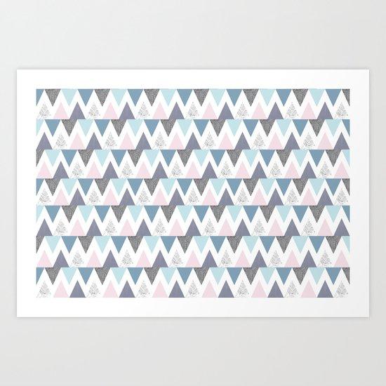Tri Colour Two Art Print