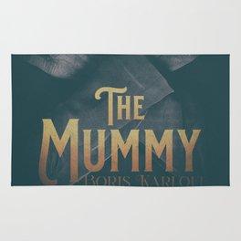 The Mummy, Boris Karloff, 1932 cult horror movie poster, vintage affiche Rug