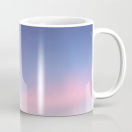 Blue evening sky with pink clouds. Photography Coffee Mug