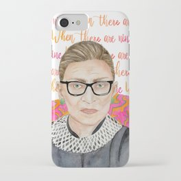 "Ruth Bader Ginsburg ""RBG"" Watercolor iPhone Case"