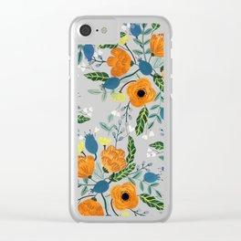 Floral Design Clear iPhone Case