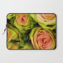 Green & Pink Bouquet Laptop Sleeve