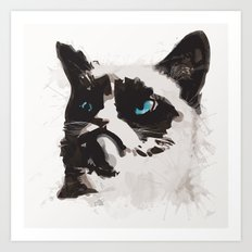Cat that's Grumpy Art Print
