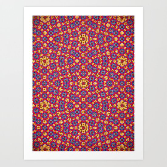 Country Festival Pattern Art Print
