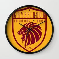 gryffindor Wall Clocks featuring Gryffindor Crest by machmigo