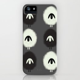 Sheep black & white iPhone Case