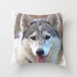 Husky Throw Pillow