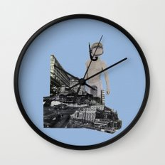 Dive in the city Wall Clock