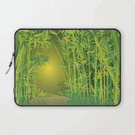 Bamboo forest scene Laptop Sleeve