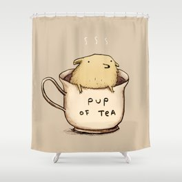 Pup of Tea Shower Curtain