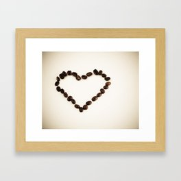 I Love You & Coffee Framed Art Print