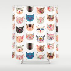 C.C. iv Shower Curtain