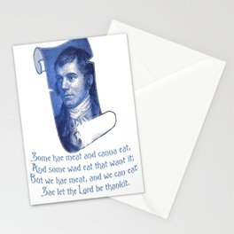The Selkirk Grace Burns Night Supper Poem Stationery Cards