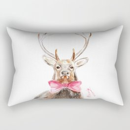 Deer with a bow Rectangular Pillow