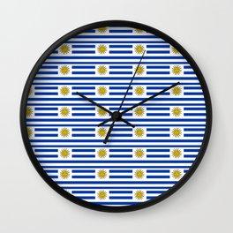 flag of Uruguay-Uruguyan,montevideo,spanish,america,latine,Salto,south america,paysandu,costa,sun Wall Clock