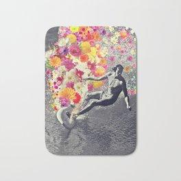 Flower surfing Bath Mat