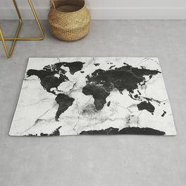 world map marble 3 Rug