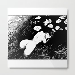 asc 387 - La fille des Marais II - Acorus calamus ( The sweet flag) Metal Print